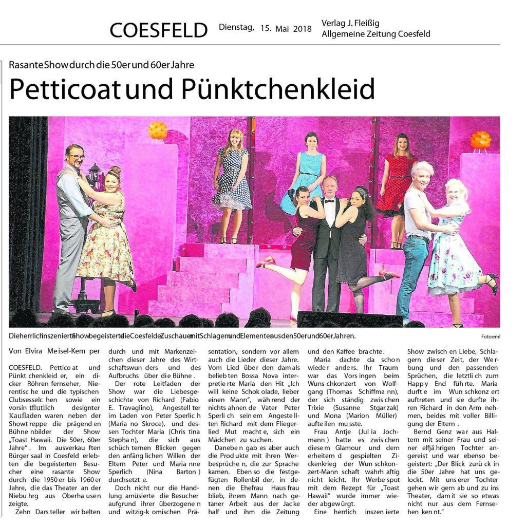 Zeitungsartikel Coesfeld 2018