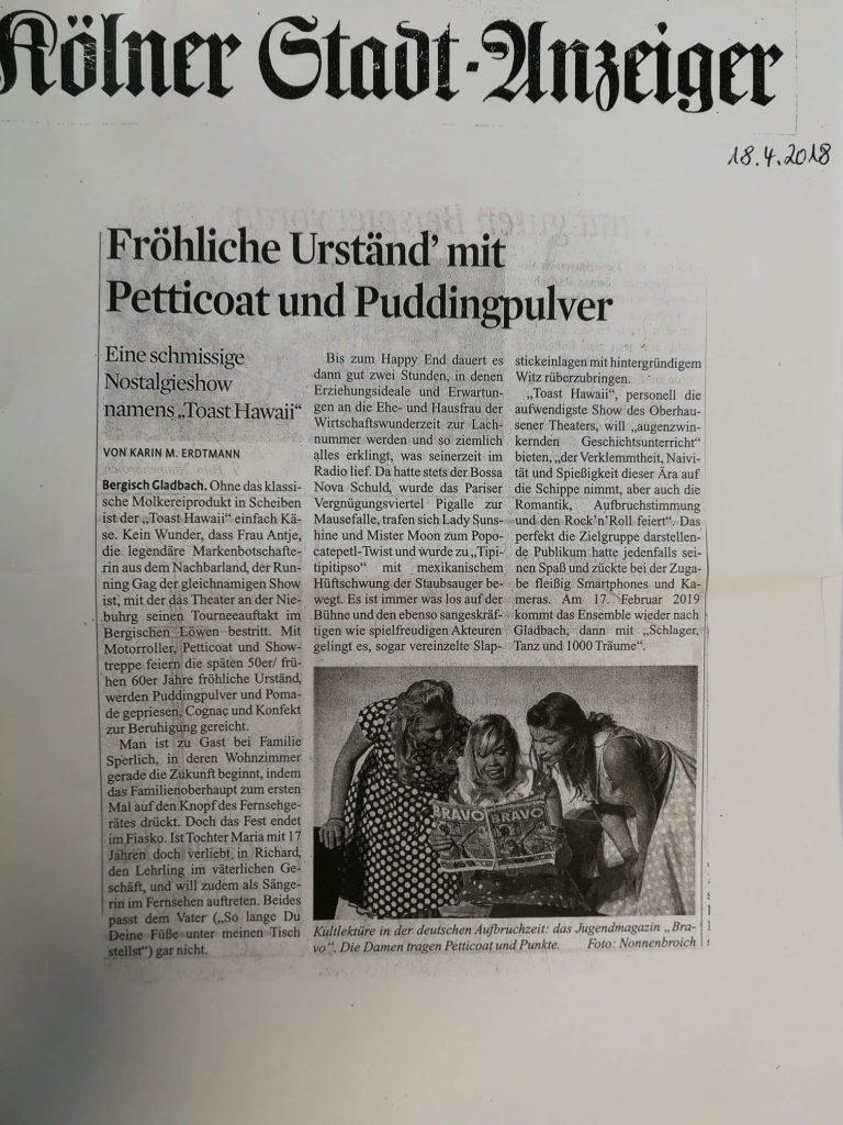 Zeitungsartikel Bergisch Gladbach 2018